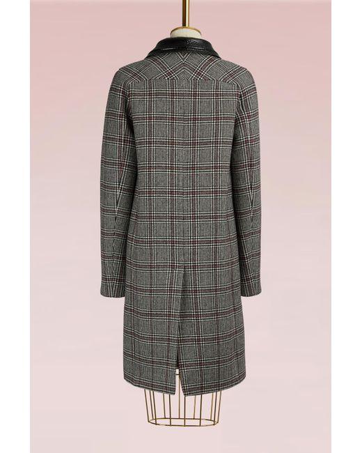 Carven | Gray Virgin Wool Coat | Lyst