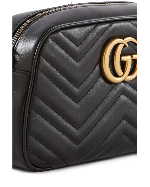 Gucci Black Gg Marmont Matelassã© Shoulder Bag