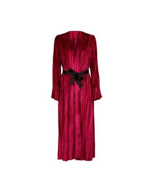 Kimono en velours Forte Forte en coloris Red