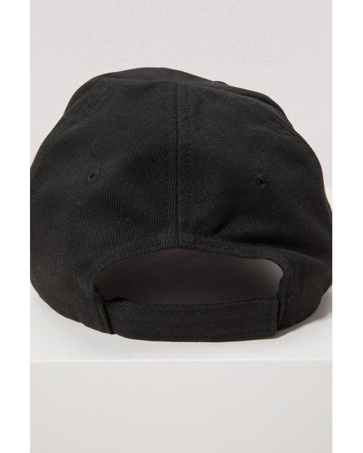 ... Balenciaga - Black Casquette En Serge De Coton À Broderies - Lyst ... e20284f93e0