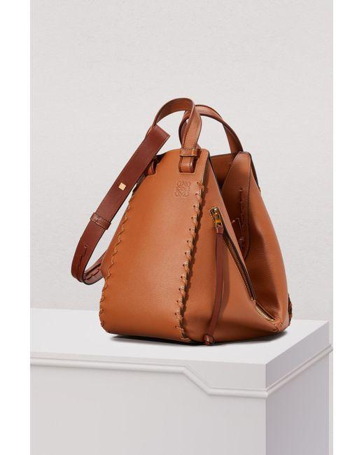 Loewe - Brown Hammock Laced Handbag - Lyst