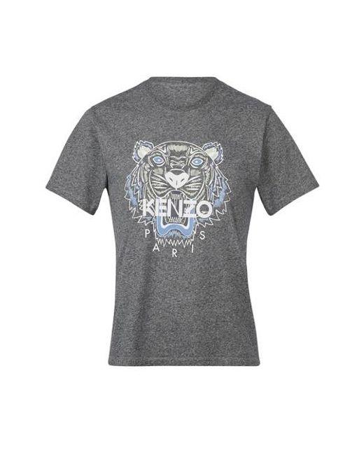 KENZO Gray Classic Tiger T-shirt for men
