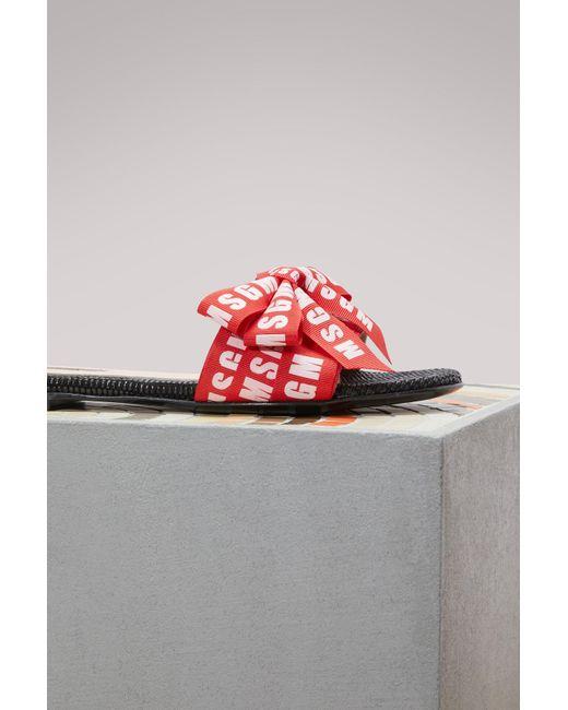 Msgm Knot logo Sandals Outlet Online Shop Outlet Low Cost Wide Range Of Online Sale Footlocker Finishline Affordable B0VxV
