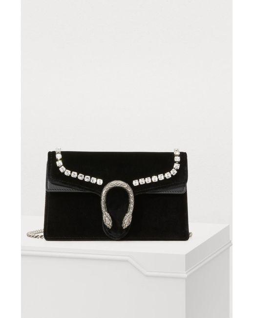 e3f3fb9cb Gucci - Black Dionysus Super Mini Bag - Lyst ...