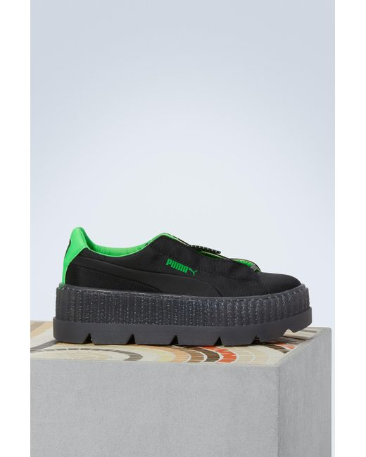 PUMA - Black Cleated Creepers - Lyst