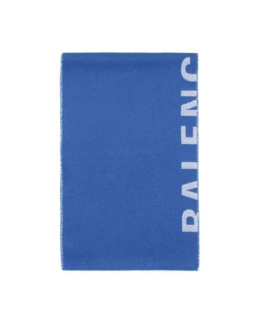 Echarpe Logo Macro Balenciaga pour homme en coloris Blue