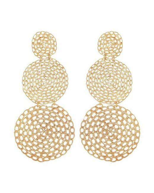 Boucles d'oreilles onde gourmette double Gas Bijoux en coloris Metallic