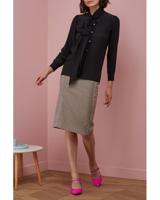 Gucci | Black Silk Shirt With Garden Print | Lyst