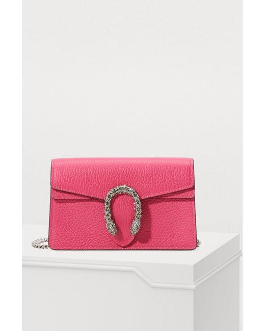 c55702501bf2 Gucci - Multicolor Dionysus Velvet Super Mini Bag With Crystals - Lyst ...