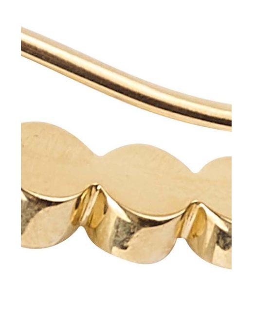 Sophie Bille Brahe Metallic Petite Croissant De Lune Single Earring