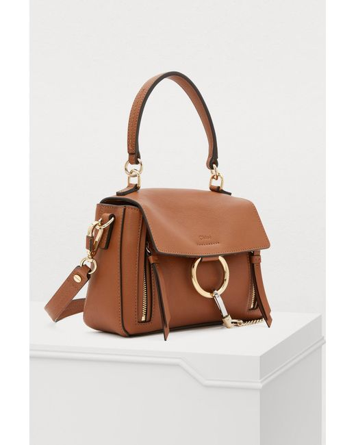 855bea0cb4 Chloé Mini Faye Day Shoulder Bag in Brown - Save 41% - Lyst