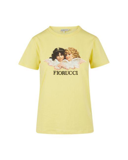 Fiorucci Yellow Vintage Angels T-shirt