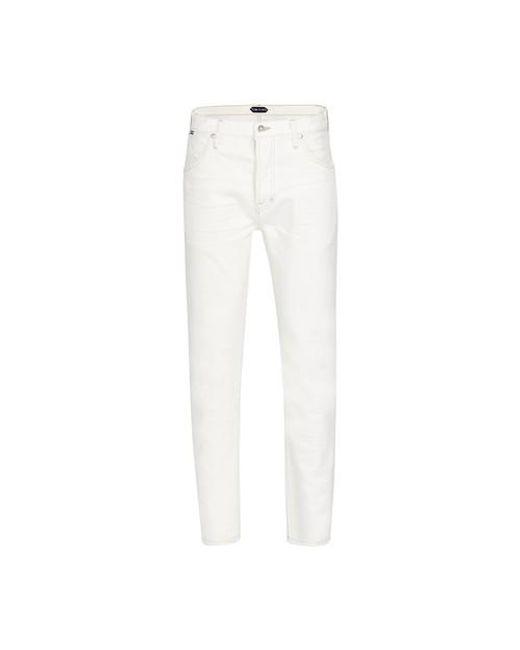 Tom Ford White Japanese Selvedge Denim Jeans for men