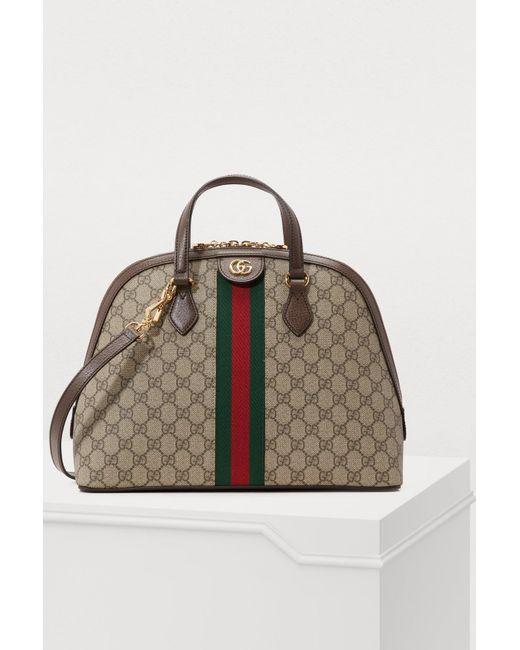 553ec0237600 Gucci - Natural Ophidia GG Supreme Shoulder Bag - Lyst ...