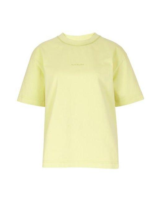 Acne Yellow Oversized T-shirt