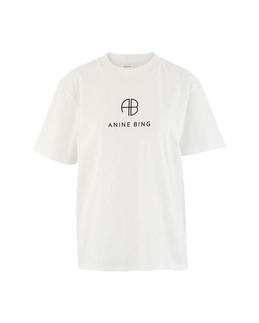 Anine Bing White Hudson T-shirt