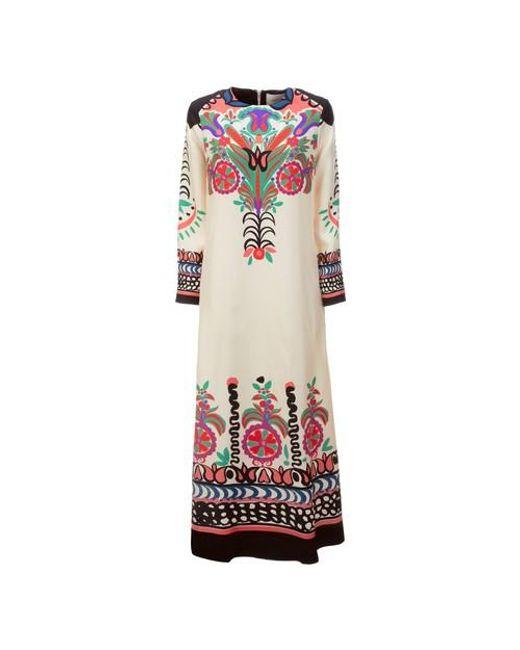 LaDoubleJ Multicolor Long Sleeve Swing Dress