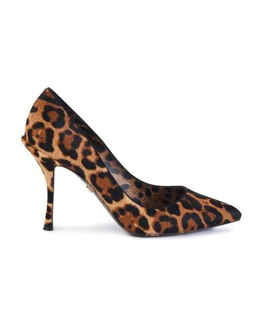 Escarpins en fourrure Dolce & Gabbana en coloris Brown