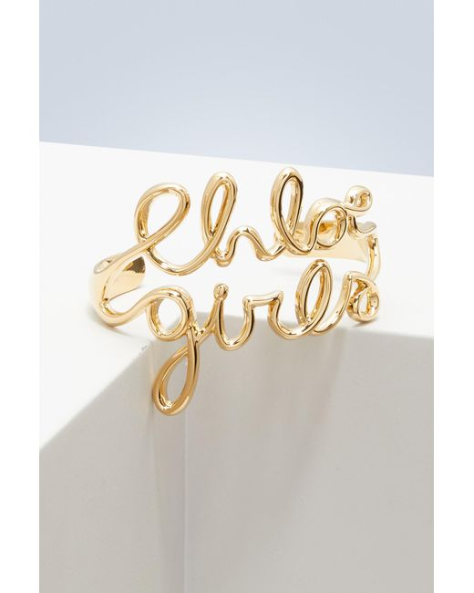 Chloé - Metallic Chloé Girls Bracelet - Lyst