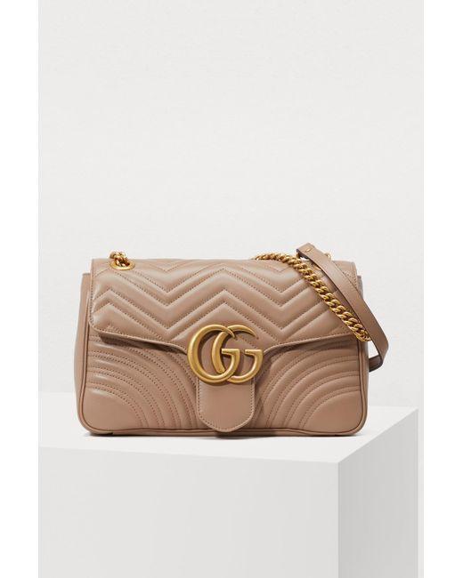 Gucci - Multicolor Sac à épaule GG Marmont matelassé - Lyst ... b05aaa8a93d