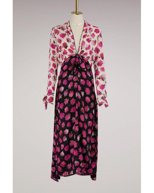 Proenza Schouler - Multicolor Silk Printed Long Dress - Lyst