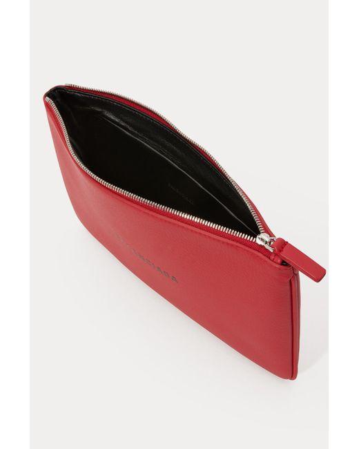le dernier 6c284 7c41f Balenciaga Logo Pouch M Leather Rouge Lant/noir in Red - Lyst