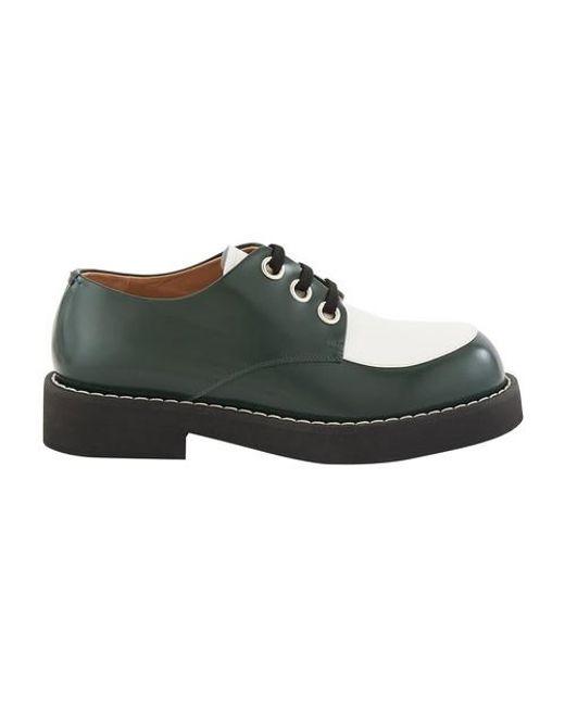 Marni Green Two-tone Derbies
