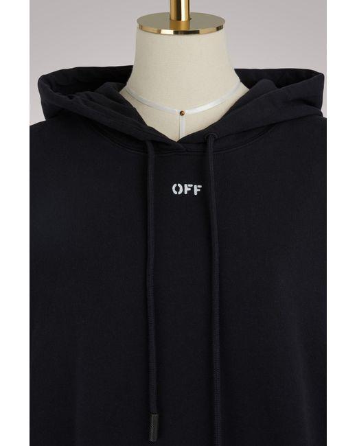 fe9317f8465c Off-White c o Virgil Abloh - Black Diag Flower Shop Sweatshirt - Lyst .