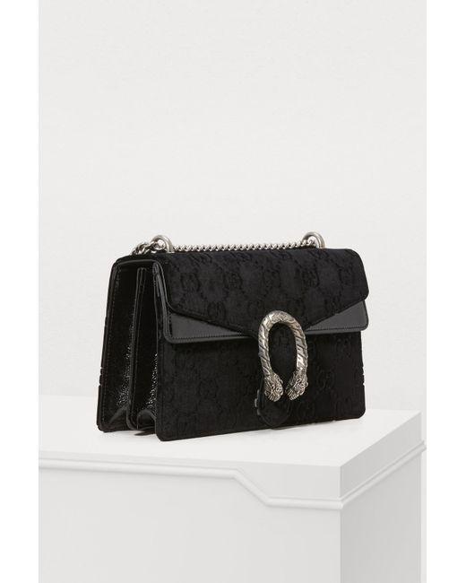 0285ea95bcbf Gucci Dionysus GG Small Velvet Shoulder Bag in Black - Save 21% - Lyst
