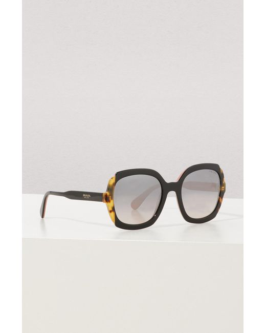 Prada - Brown Etiquette Sunglasses - Lyst