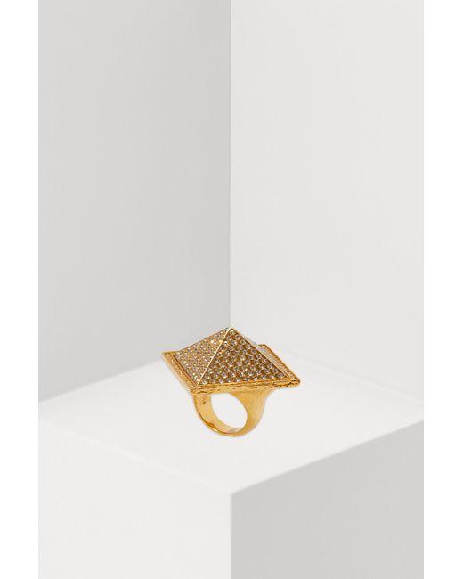 Givenchy - Metallic Pyramidal Ring - Lyst