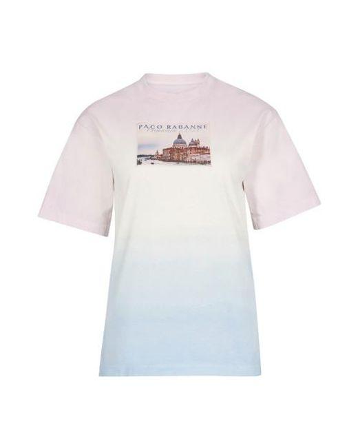 Paco Rabanne Multicolor Bedrucktes T-Shirt
