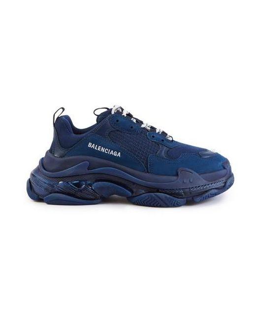 Basket Triple S clear sole Balenciaga en coloris Blue