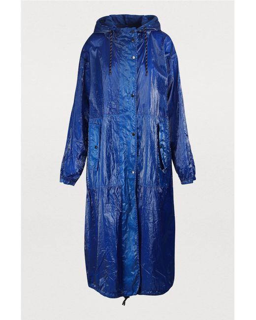 De Parka Bleu Oversize Femme Coloris Brillante f6YgvmIb7y