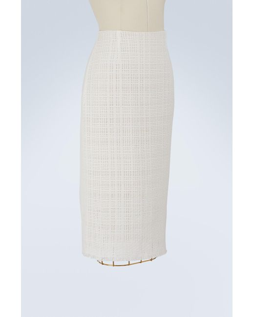 3092bb03a4 Roland Mouret Ryehill Pencil Skirt in White - Save 22% - Lyst