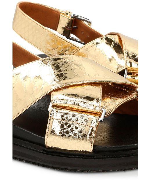 Marni Multicolor Fussbett Sandals