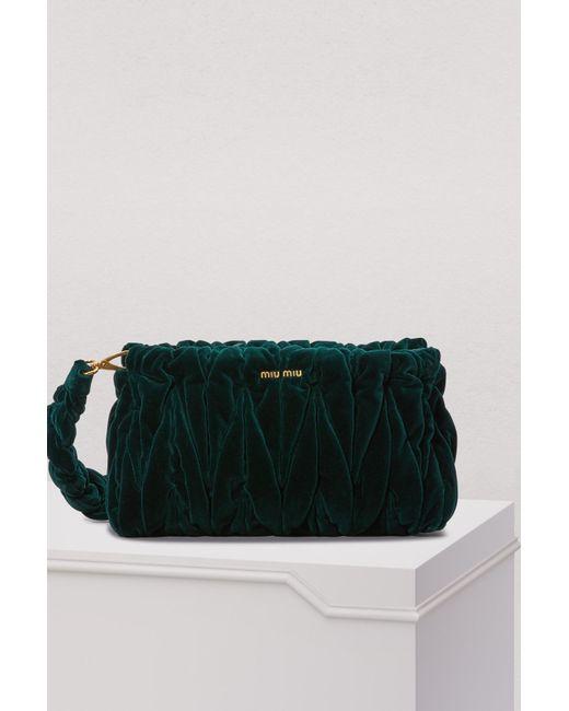 58ed87243c32 Miu Miu - Multicolor Velvet Matelasse Big Crossbody Bag - Lyst ...