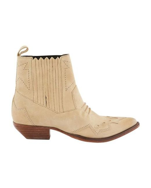 Roseanna Natural Heeled Ankle Boots