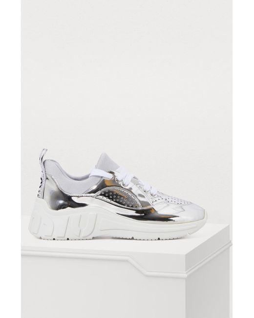 464f461fee8a Lyst - Miu Miu Metallic Sneakers in Metallic