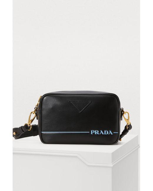 853a7f05900c7e Prada Mirage Camera Bag in Black - Save 55% - Lyst