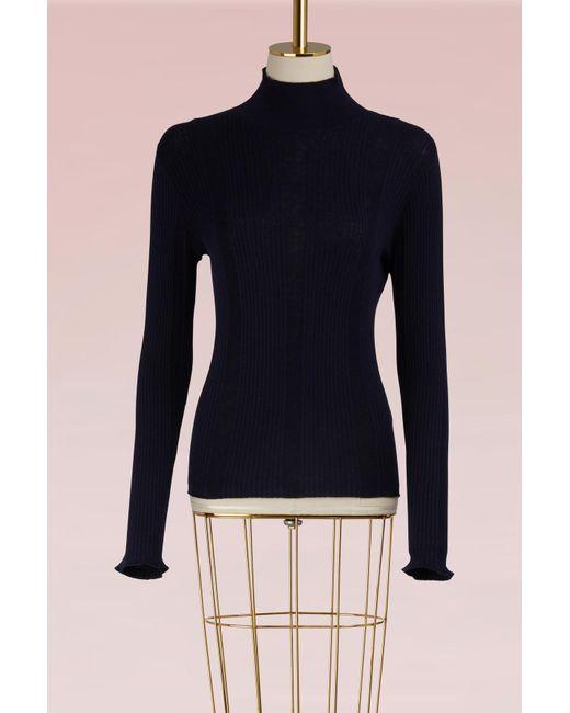 A.P.C. | Blue Cotton Nocturne Sweater | Lyst