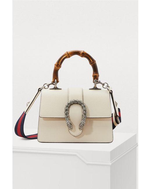 533d76b1f764 Gucci - White Dionysus Bamboo Handbag - Lyst ...
