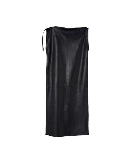Marni Black Asymmetric Top Leather Dress