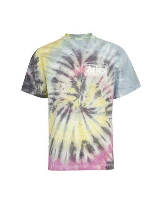 Aries Multicolor Tie-dye T-shirt for men