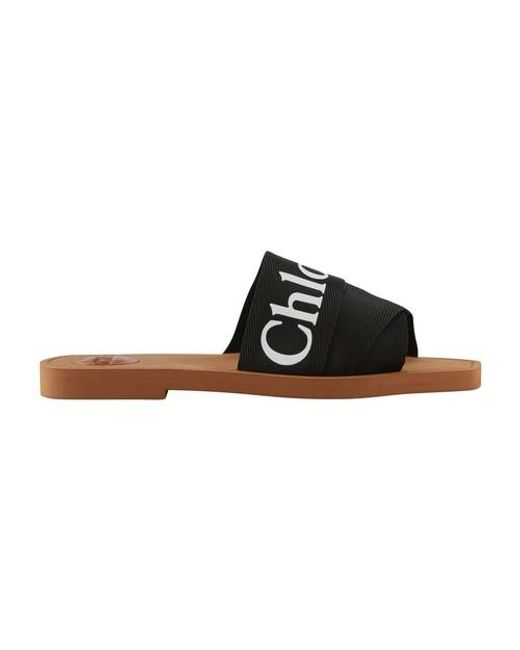 Chloé Black Woody Flat Mule