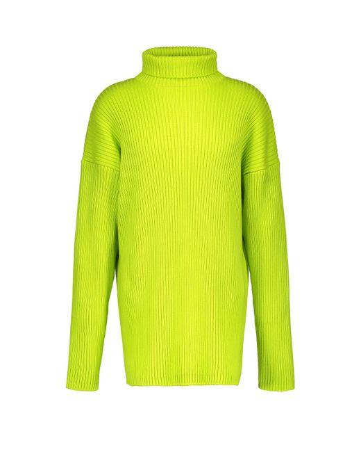 Pull col roulé en coton Balenciaga pour homme en coloris Green