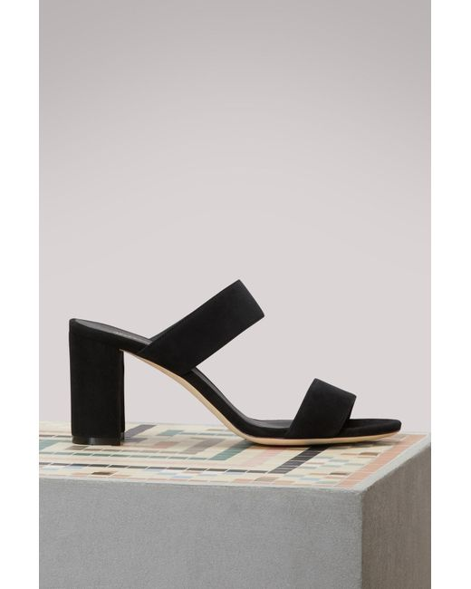 Repetto - Black Entrecroise Heeled Sandals - Lyst
