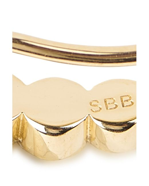 Sophie Bille Brahe Metallic Croissant De Lune Single Earring