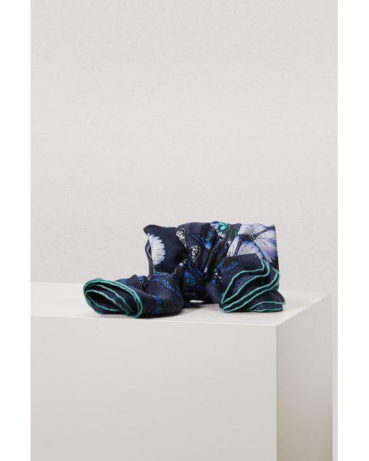 Alexander McQueen - Blue Metamorphosis Scarf - Lyst