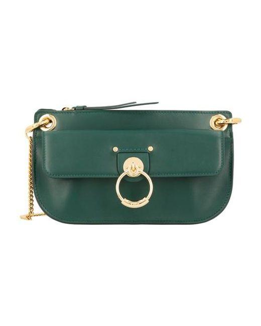 Chloé Green Tess Mini Leather Cross-body Bag